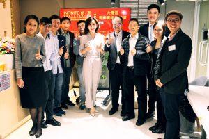 【INFINITE 創 • 聚】的一眾高管與出席Party的【大灣區青年創業家聯盟會】會長、資深【初創投資人】、【香港青年創業家協會】前會長、專注【中小企】【初創企業】的律師及【香港社會創新及創業發展基金】【SIE FUND】支助社企【AESIR】 項目總監合照。